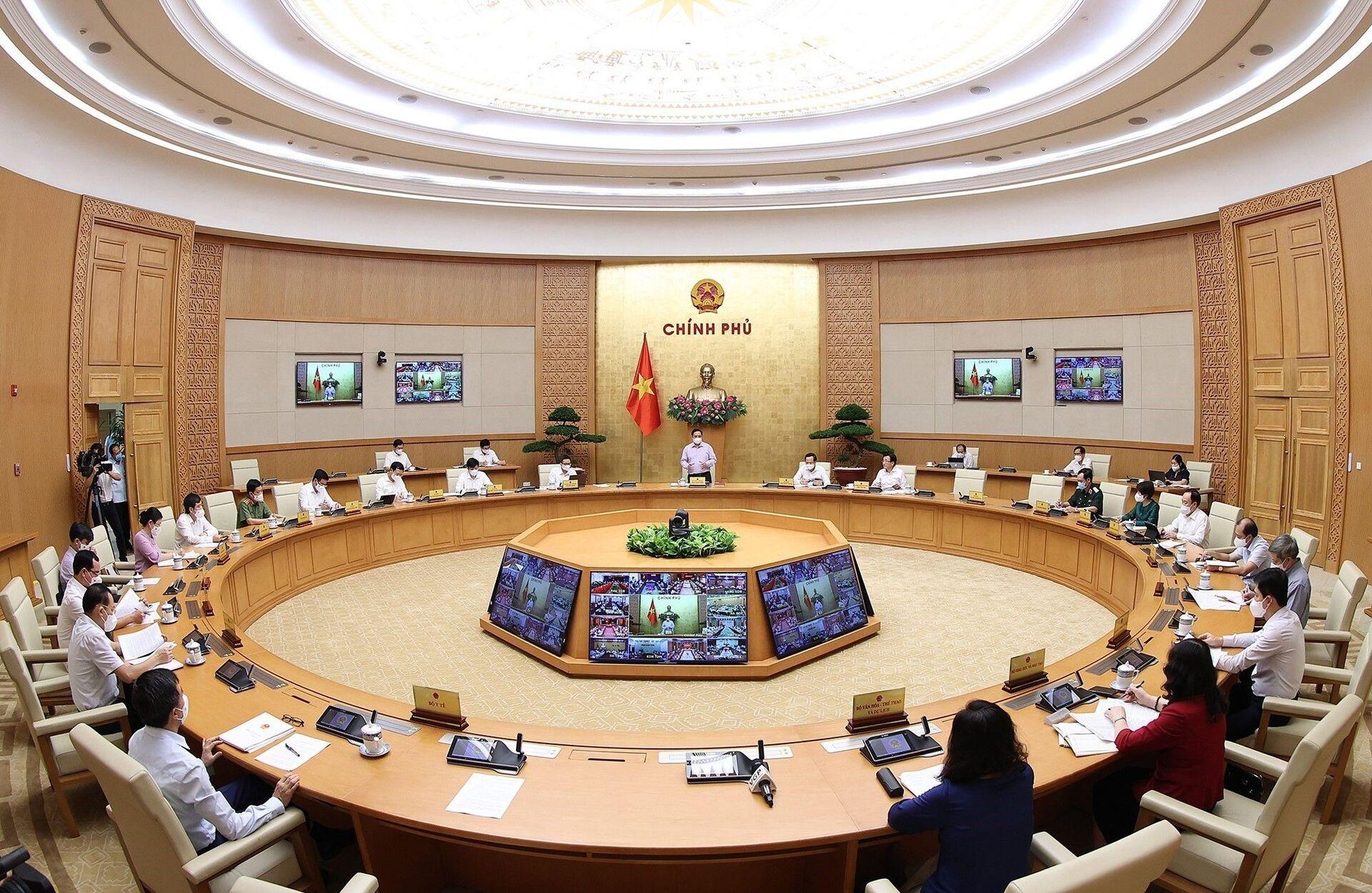 Thủ tướng Phạm Minh Chính chủ trì họp trực tuyến toàn quốc về phòng, chống dịch Covid-19 - Sputnik Việt Nam, 1920, 29.05.2021
