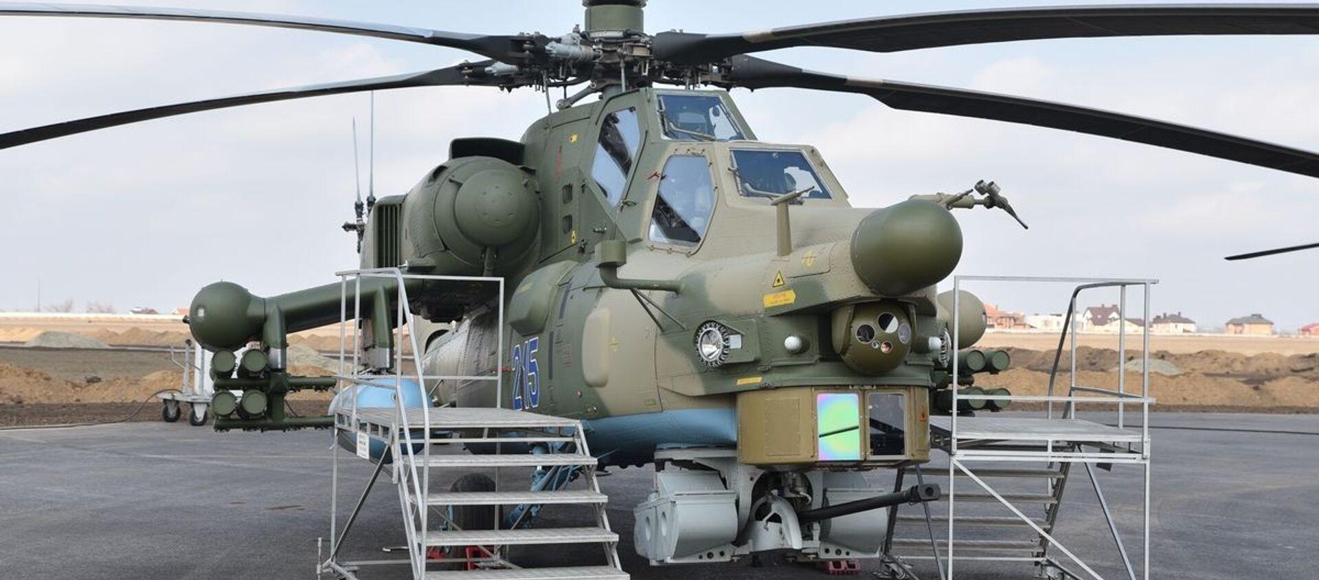 Máy bay trực thăng chiến đấu mới nhất của Nga Mi-28NM. - Sputnik Việt Nam, 1920, 29.05.2021