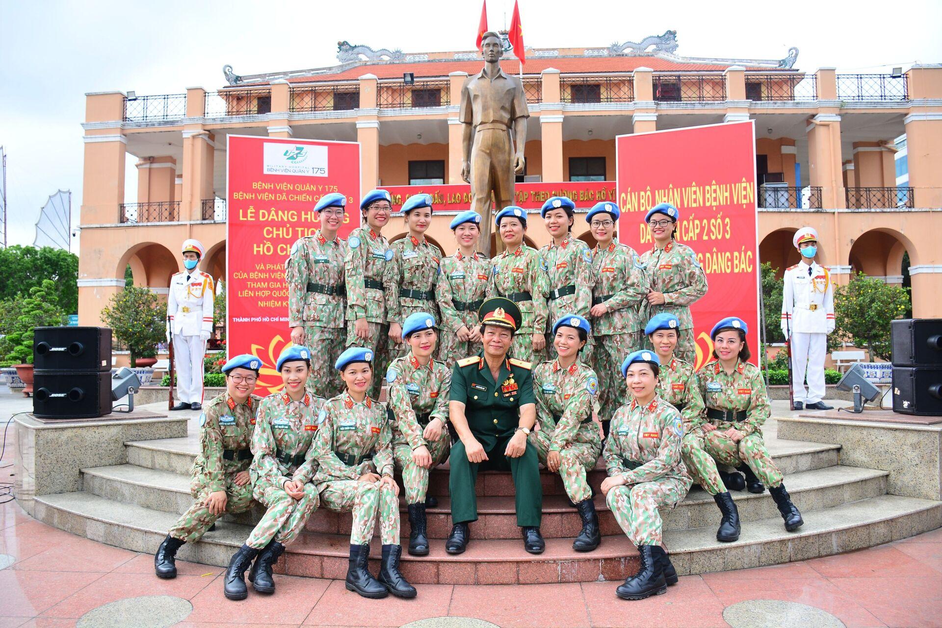 Những bóng hồng của Lực lượng GGHB LHQ Việt Nam tại Nam Sudan. - Sputnik Việt Nam, 1920, 05.10.2021