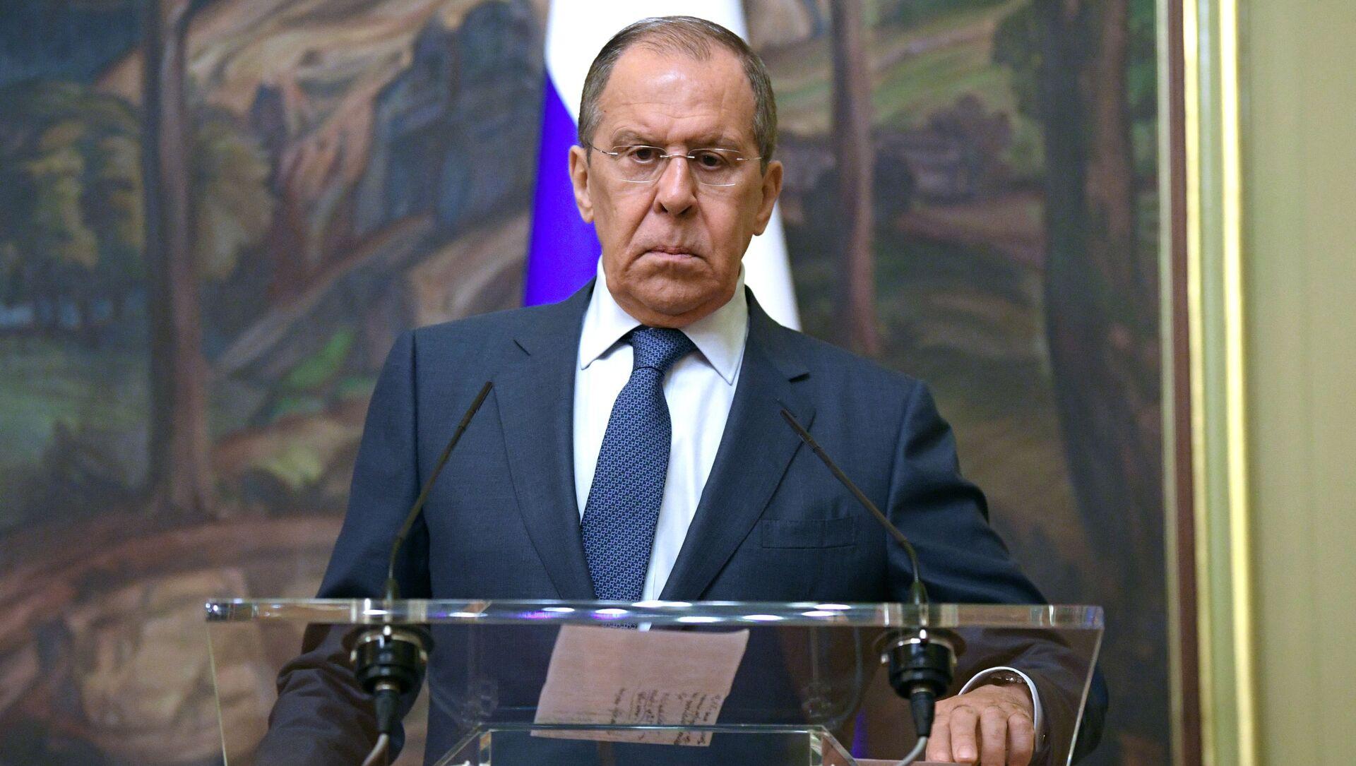 Bộ trưởng Ngoại giao Nga Sergei Lavrov. - Sputnik Việt Nam, 1920, 09.07.2021