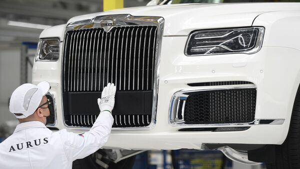 Dây chuyền cuối lắp ráp xe Aurus Senat tại nhà máy ở Tatarstan (Nga). - Sputnik Việt Nam