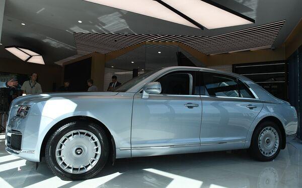 """Xe Aurus Senat trong phòng trưng bày ở Trung tâm Kinh doanh """"Matxcơva-City"""" - Sputnik Việt Nam"""
