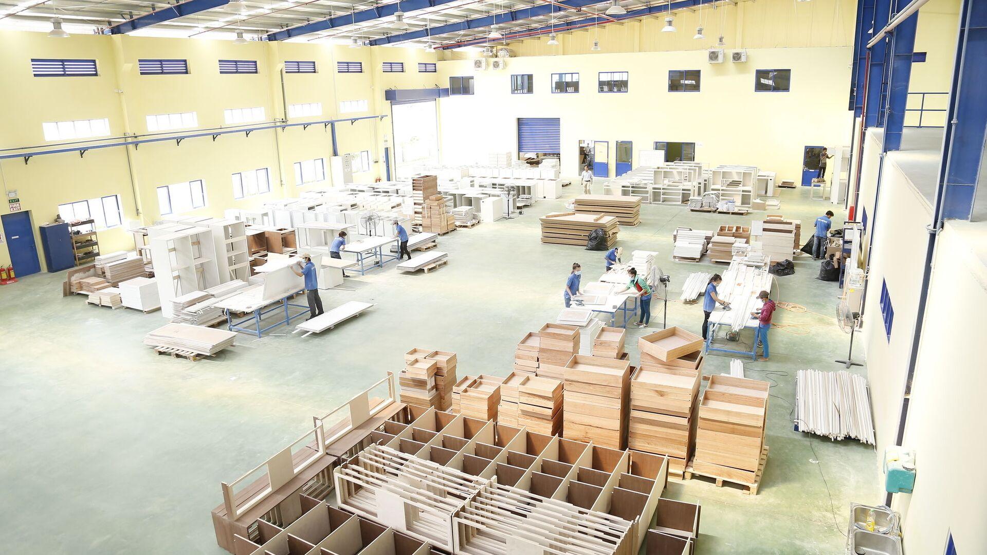 Nhà máy sản xuất gỗ xuất khẩu. - Sputnik Việt Nam, 1920, 25.09.2021