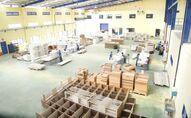 Nhà máy sản xuất gỗ xuất khẩu.
