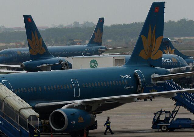 Máy bay Vietnam Airlines.