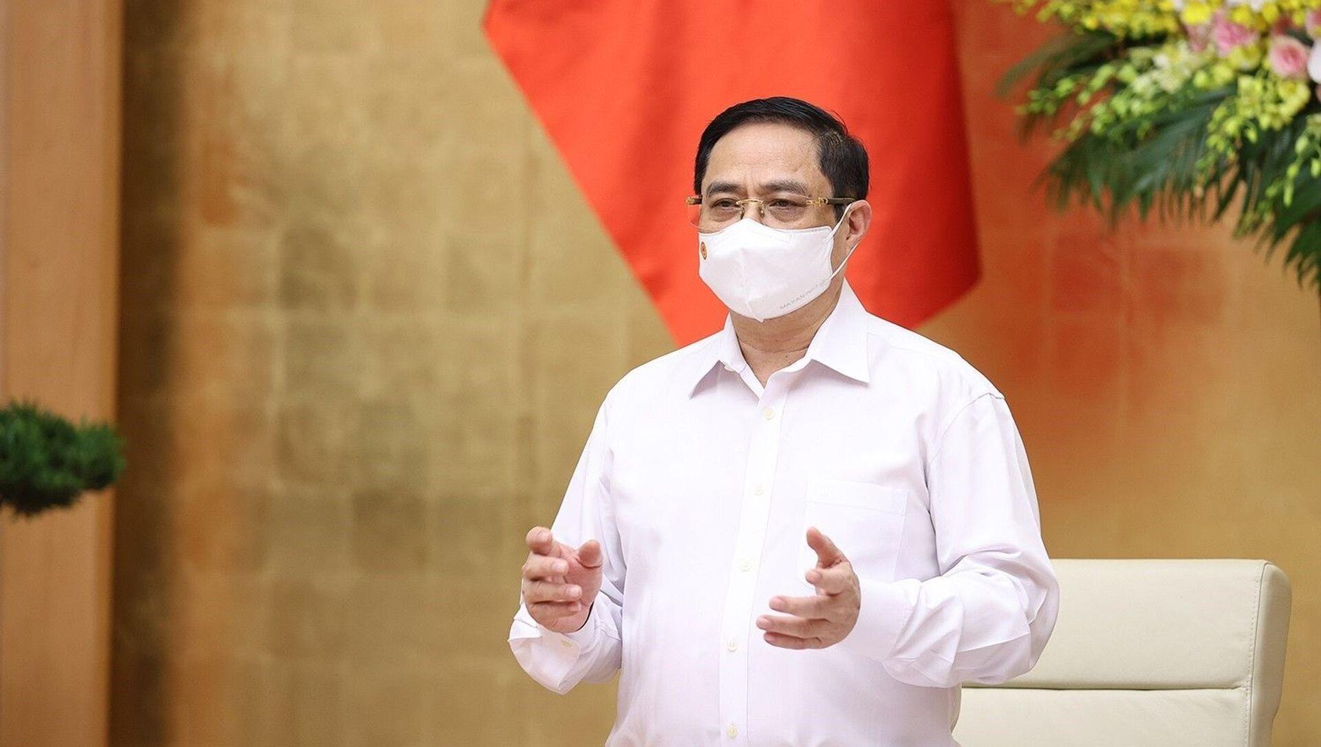 Thủ tướng Phạm Minh Chính chủ trì Phiên họp Chính phủ thường kỳ tháng 5 - Sputnik Việt Nam, 1920, 20.06.2021