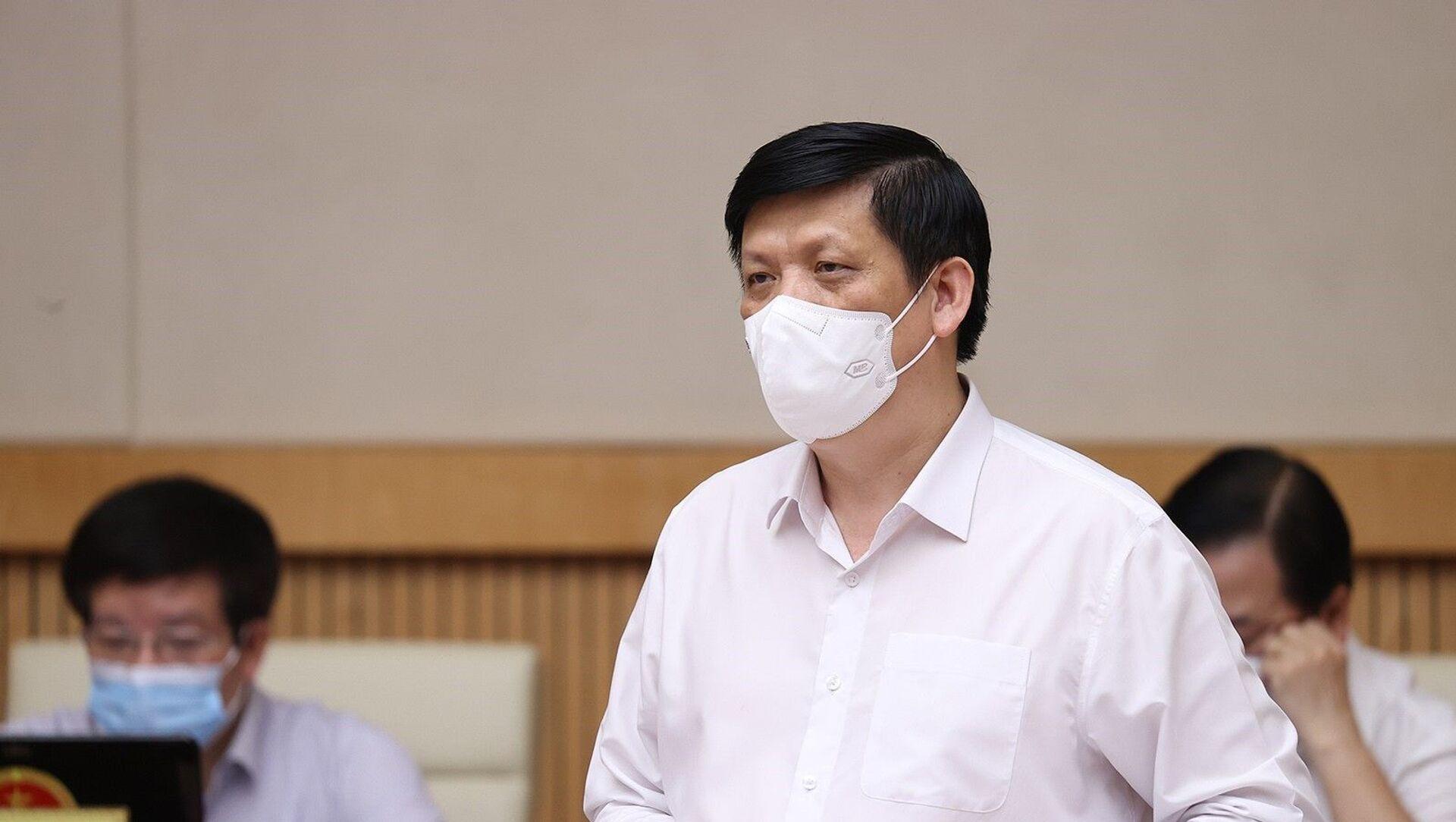Bộ trưởng Bộ Y tế Nguyễn Thanh Long báo cáo công tác phòng, chống dịch COVID-19. - Sputnik Việt Nam, 1920, 09.06.2021