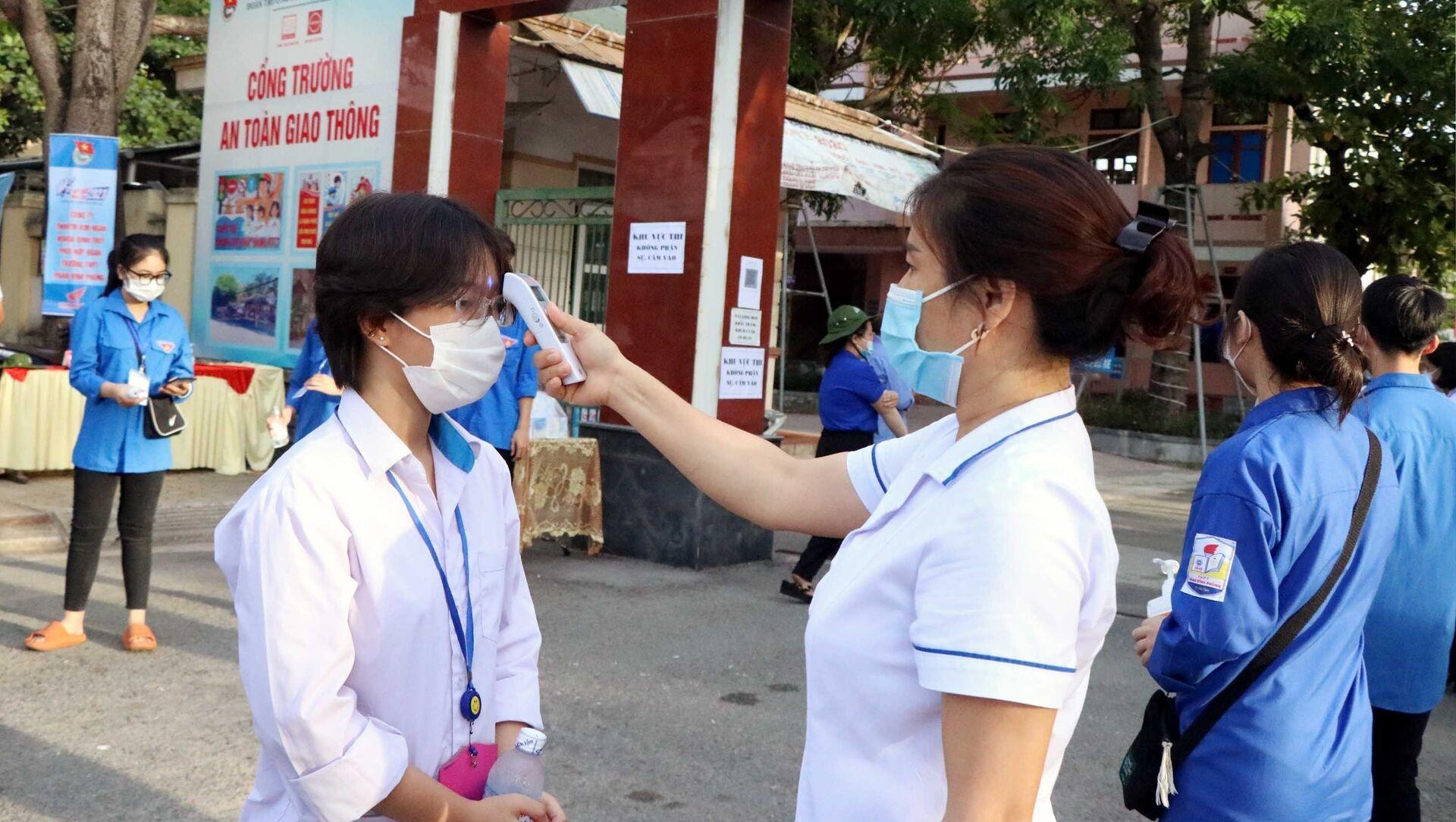 Hà Tĩnh: Kỳ thi lên lớp 10 đảm bảo an toàn trước dịch, bệnh COVID-19 - Sputnik Việt Nam, 1920, 06.06.2021