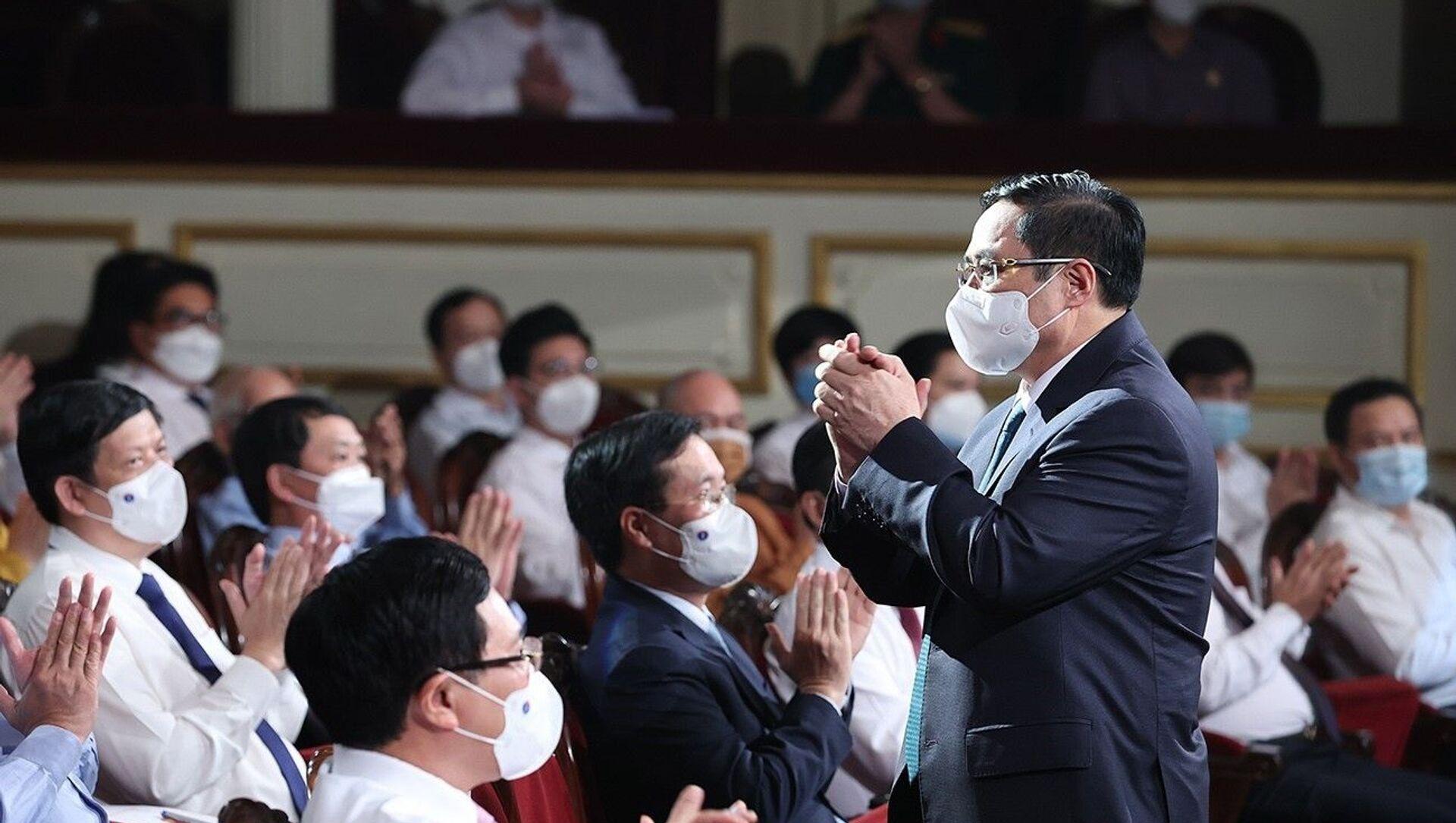 Thủ tướng Chính phủ Phạm Minh Chính dự Lễ ra mắt Qũy vaccine phòng COVID-19 - Sputnik Việt Nam, 1920, 07.06.2021