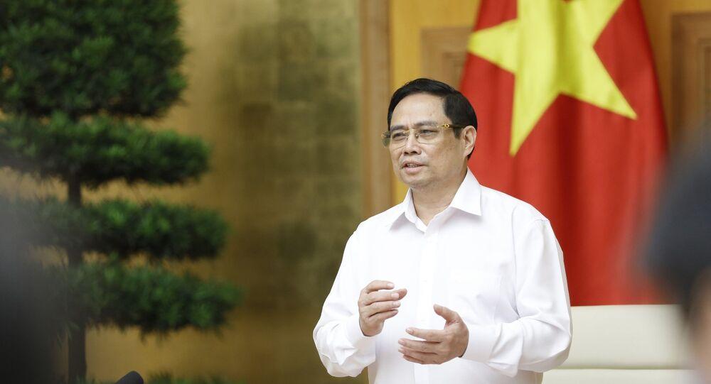 Thủ tướng Phạm Minh Chính yêu cầu Nhà nước, Nhà Khoa học, Nhà doanh nghiệp phối hợp phát triển việc nghiên cứu sản xuất vaccine phòng COVID-19.