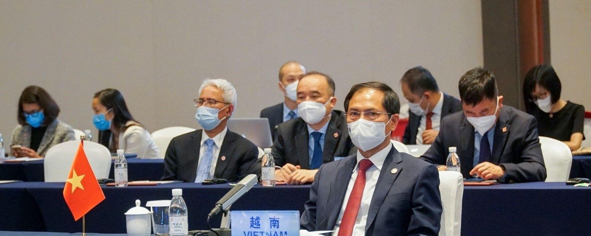 Bộ trưởng Ngoại giao Bùi Thanh Sơn tham dự Hội nghị đặc biệt Bộ trưởng Ngoại giao ASEAN - Trung Quốc - Sputnik Việt Nam, 1920, 30.06.2021