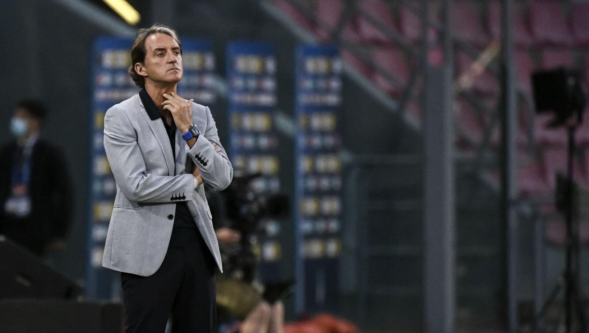 Huấn luyện viên trưởng đội tuyển quốc gia Ý Roberto Mancini - Sputnik Việt Nam, 1920, 08.06.2021