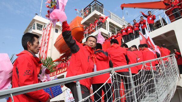 Các nhà khoa học Trung Quốc trên tàu phá băng Xue Long - Sputnik Việt Nam