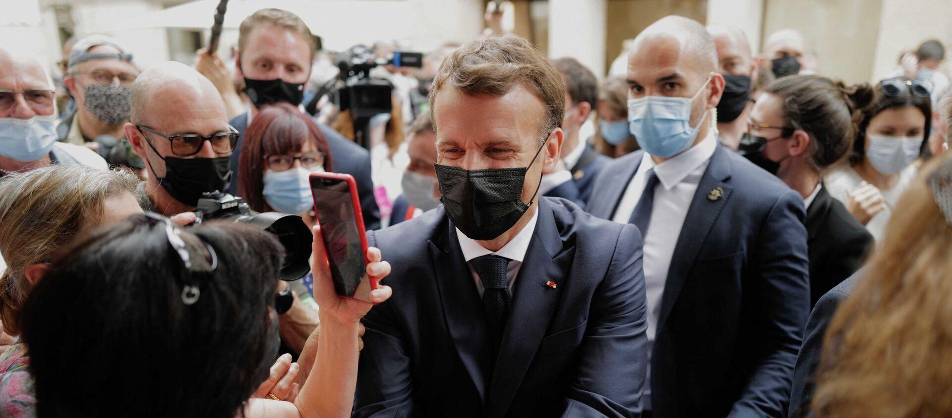 Tổng thống Pháp Emmanuel Macron - Sputnik Việt Nam, 1920, 09.06.2021