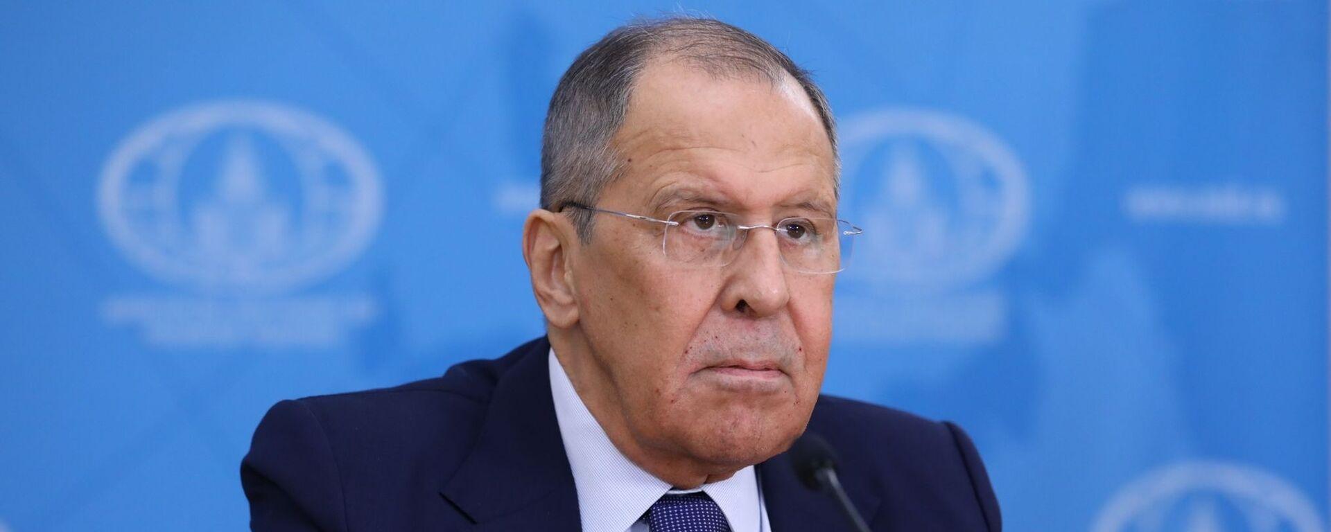 Bộ trưởng Ngoại giao Nga Sergei Lavrov. - Sputnik Việt Nam, 1920, 09.06.2021