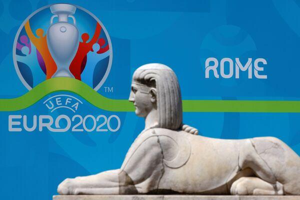 Logo UEFA EURO 2020 tại Rome - Sputnik Việt Nam