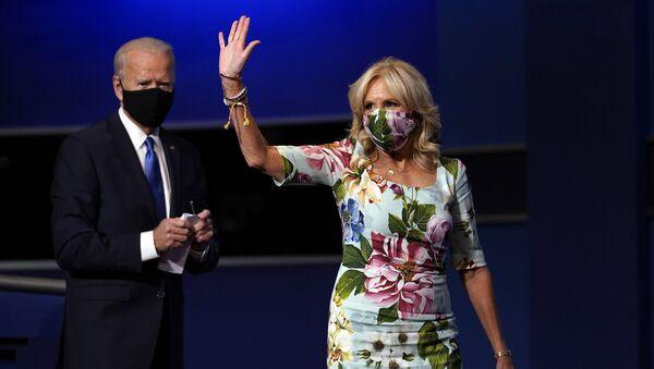 Tổng thống Mỹ Joe Biden với phu nhân Jill. - Sputnik Việt Nam