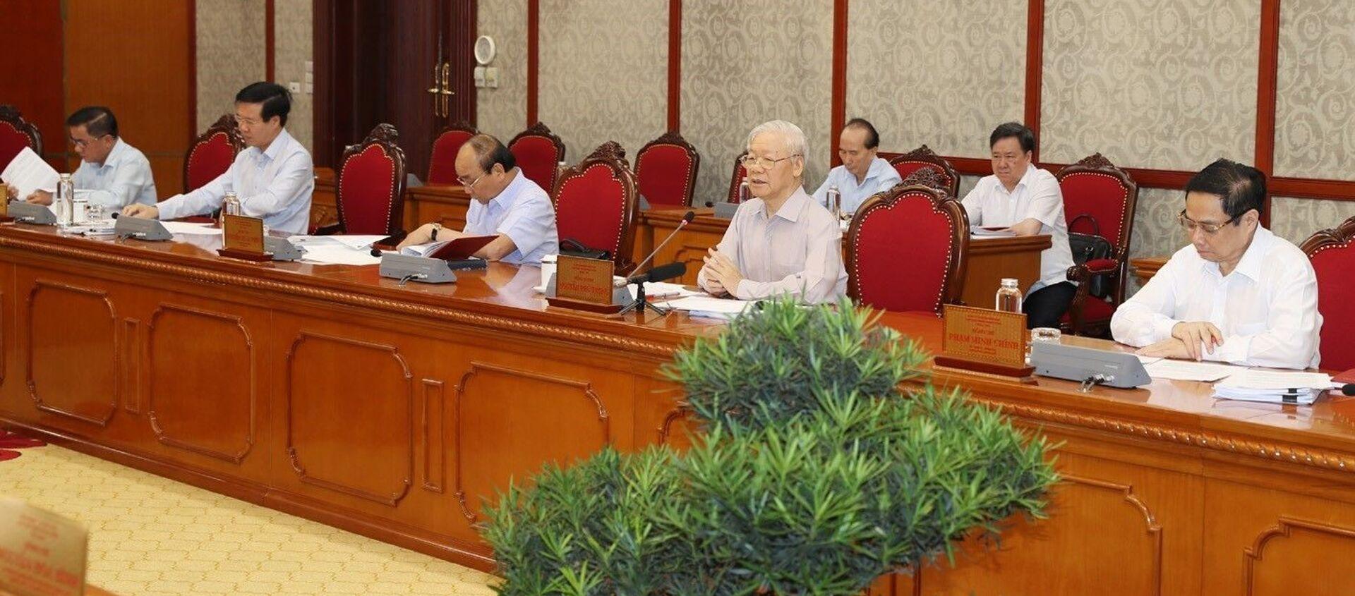 Tổng Bí thư Nguyễn Phú Trọng phát biểu kết luận cuộc họp - Sputnik Việt Nam, 1920, 11.06.2021