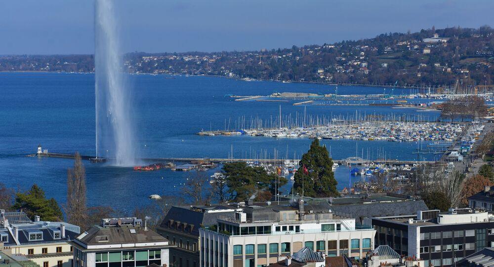 Quang cảnh hồ Lehmann ở Thụy Sĩ