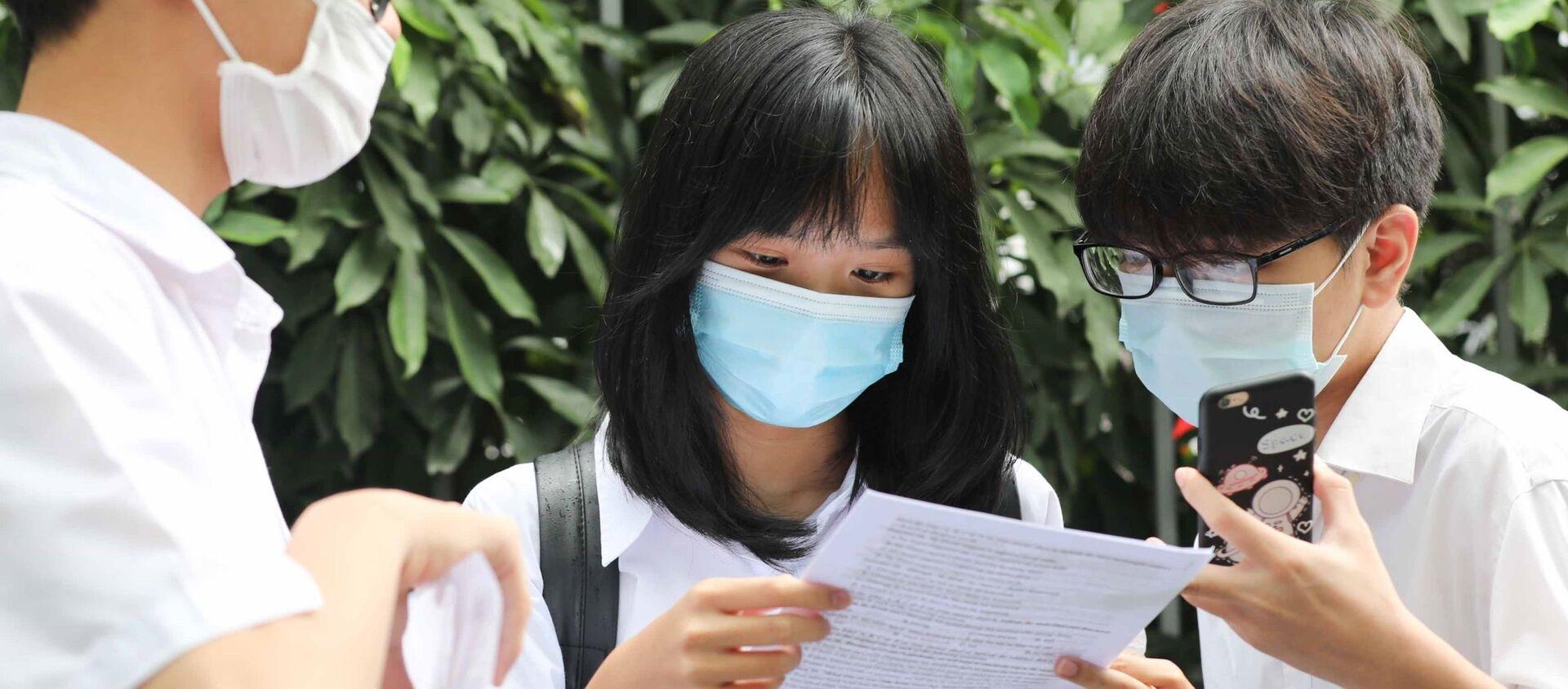 Hà Nội: Thí sinh hoàn thành ngày thi đầu tiên kỳ thi tuyển sinh lớp 10 THPT công lập năm học 2021-2022 - Sputnik Việt Nam, 1920, 12.06.2021