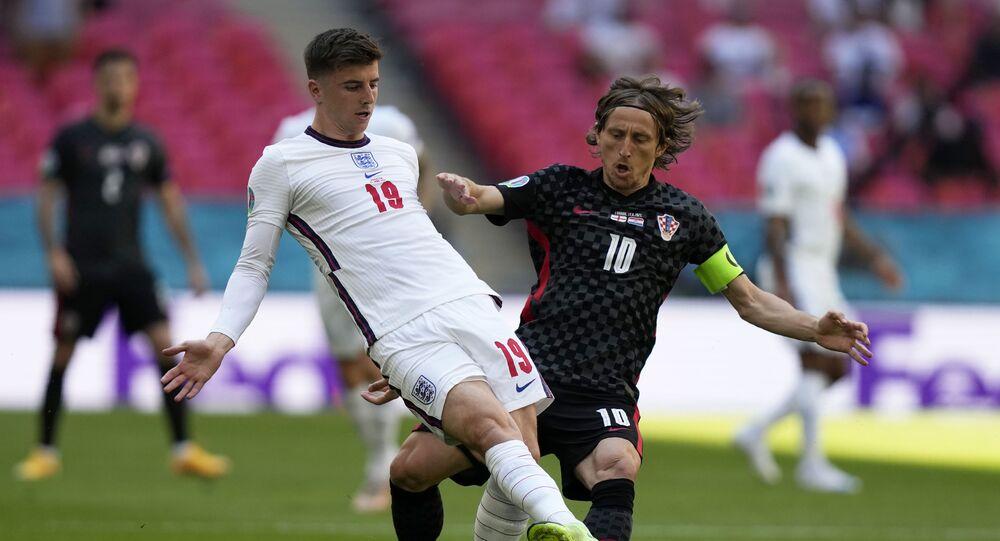 Trận đấu giữa đội tuyển Anh và Croatia tại Euro 2020