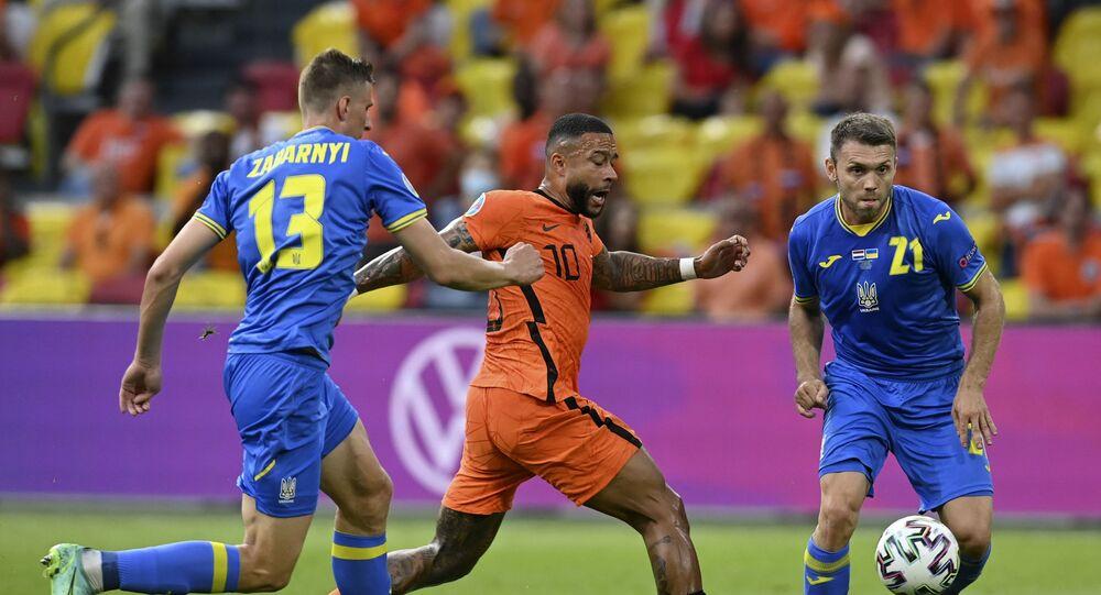 Trận đấu giữa đội tuyển Hà Lan và Ukraina tại Euro 2020