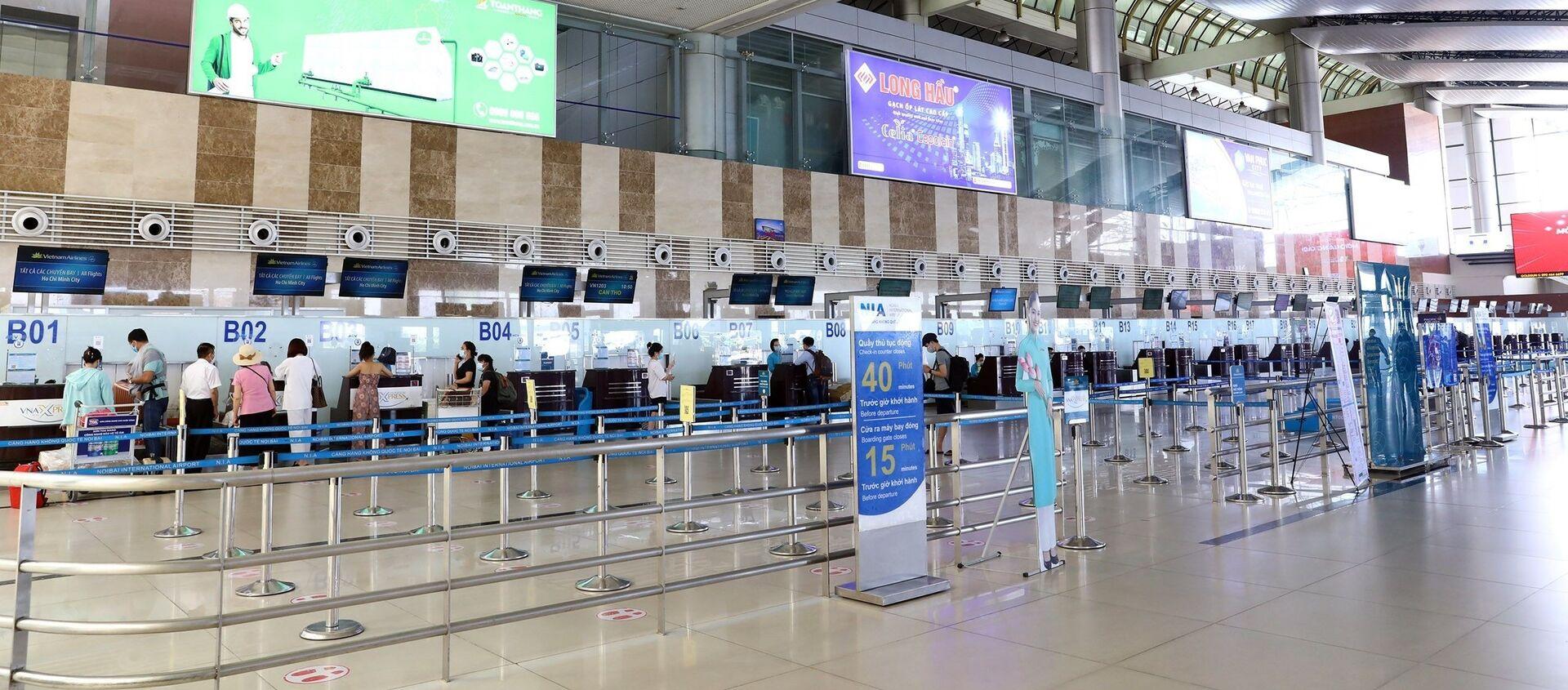 Lượng hành khách qua sân bay Nội Bài giảm sâu do dịch COVID-19 - Sputnik Việt Nam, 1920, 18.06.2021