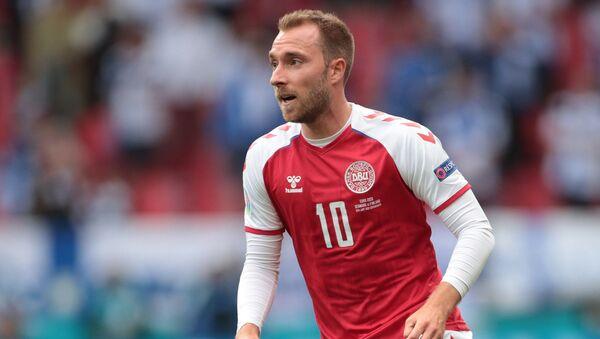 Tiền vệ Christian Eriksen của đội tuyển bóng đá quốc gia Đan Mạch. - Sputnik Việt Nam