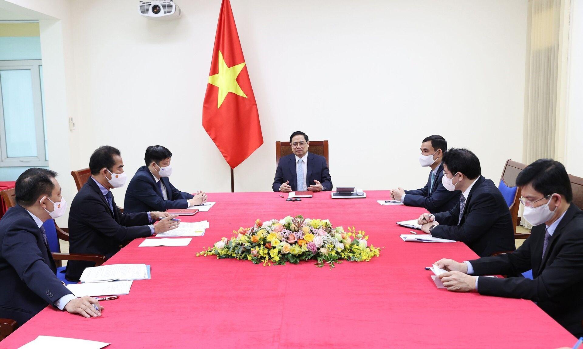 Thủ tướng Phạm Minh Chính điện đàm với Thủ tướng Pháp Jean Castex - Sputnik Việt Nam, 1920, 14.06.2021
