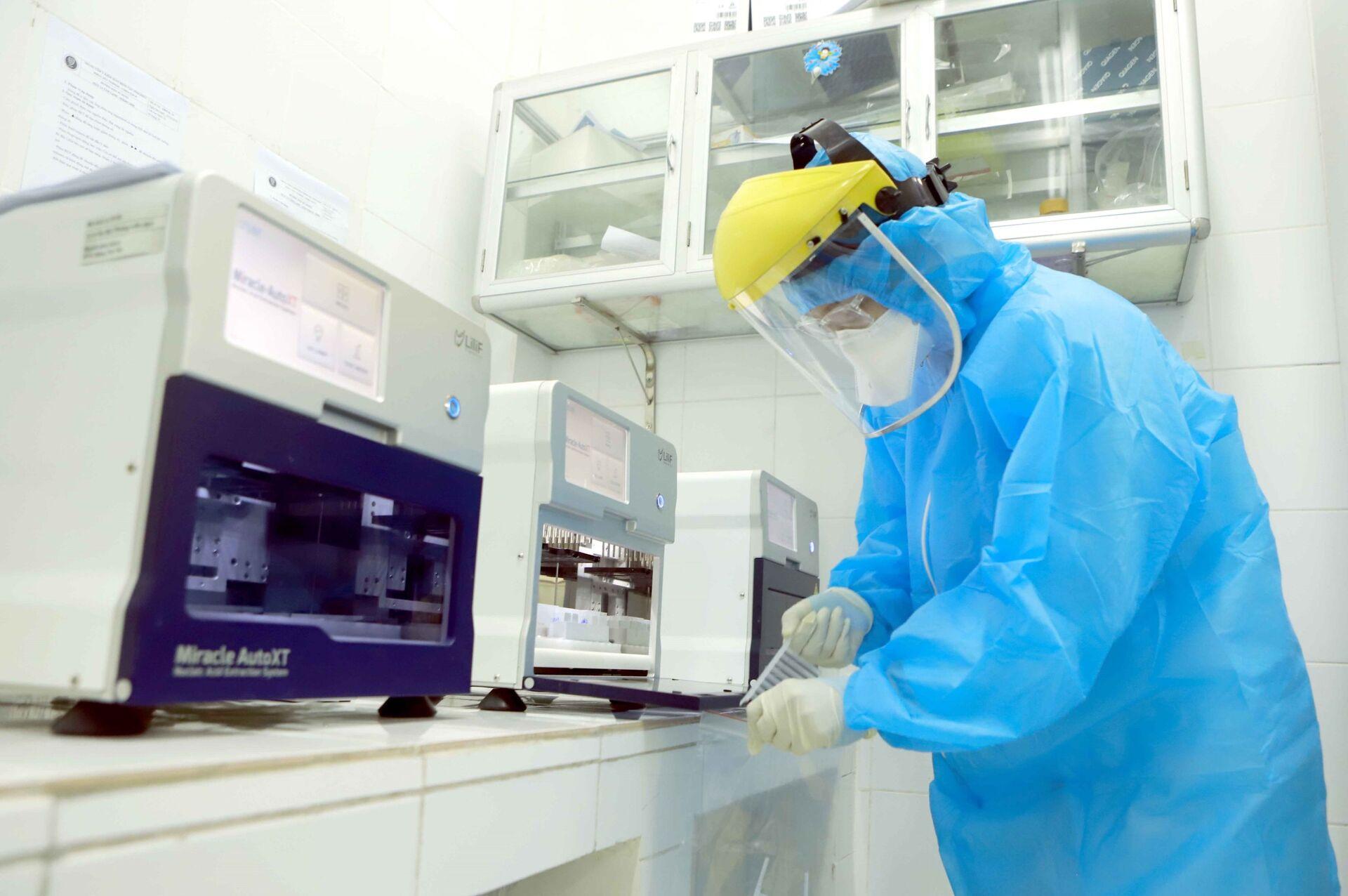 Vĩnh Phúc có đơn vị CDC đầu tiên đủ năng lực xét nghiệm virus Covid-19 - Sputnik Việt Nam, 1920, 15.06.2021