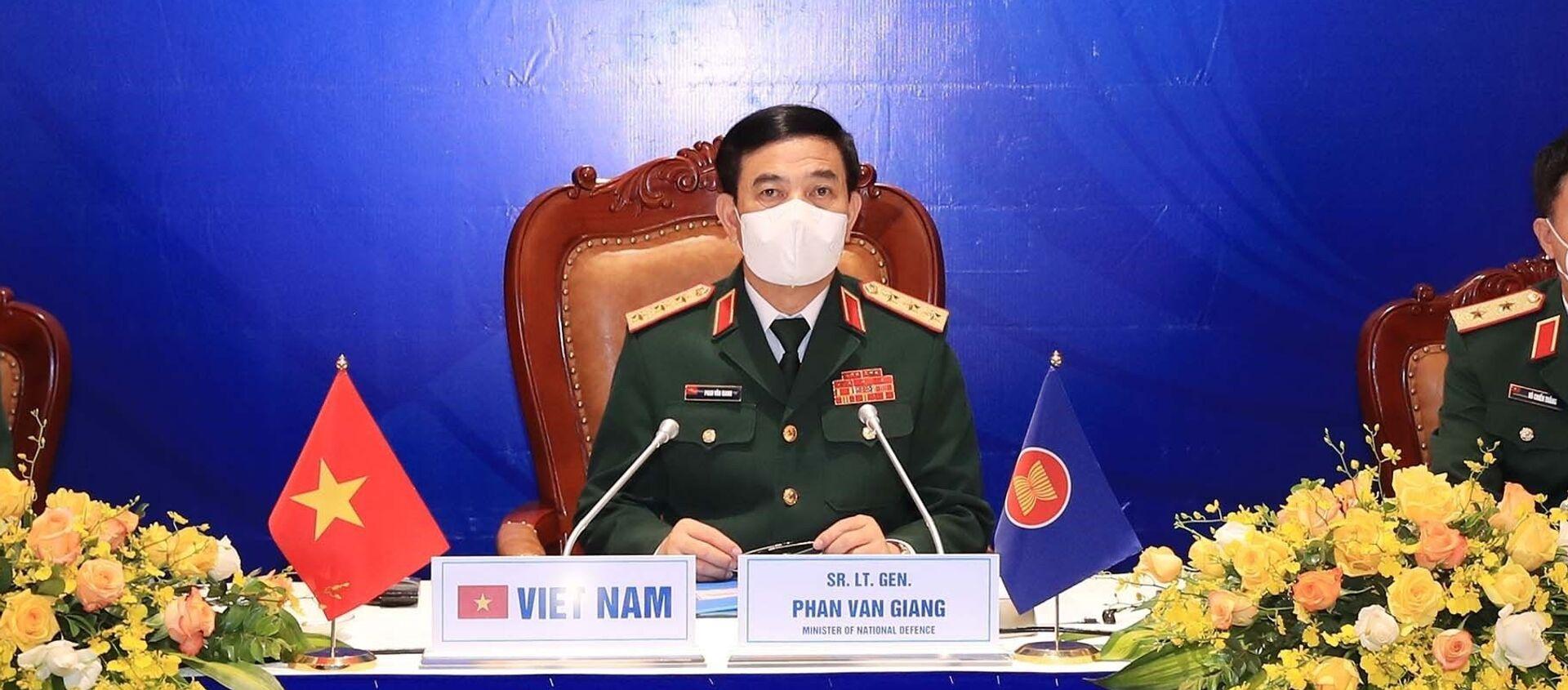 Thượng tướng Phan Văn Giang, Bộ trưởng Bộ Quốc phòng tham dự Hội nghị Bộ trưởng Quốc phòng các nước ASEAN lần thứ 15 - Sputnik Việt Nam, 1920, 15.06.2021