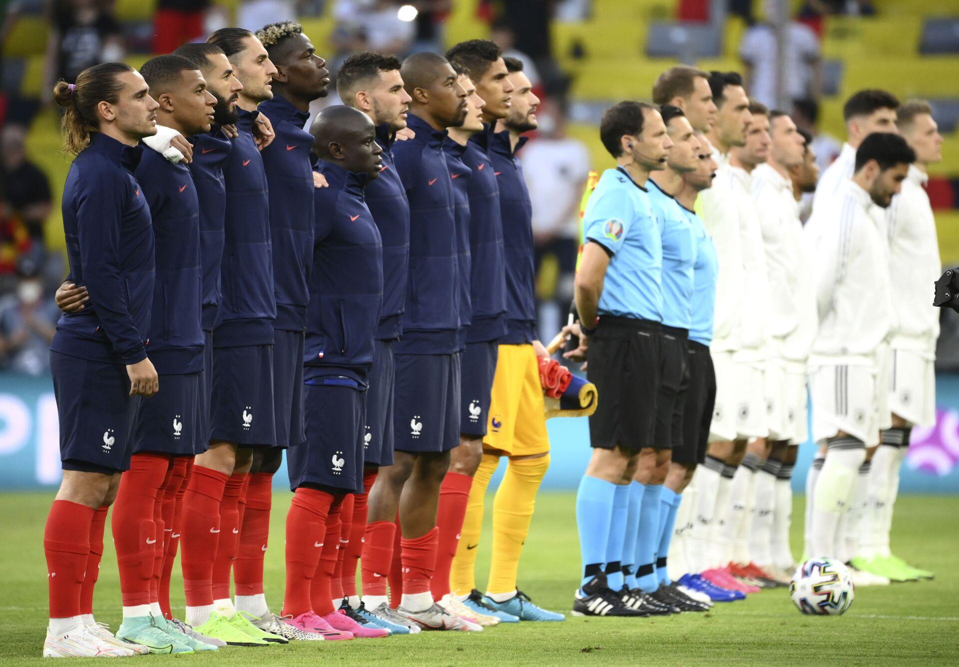 Đội tuyển Pháp thắng đội tuyển Đức trong vòng bảng EURO 2020 với tỷ số 1:0 - Sputnik Việt Nam, 1920, 16.06.2021