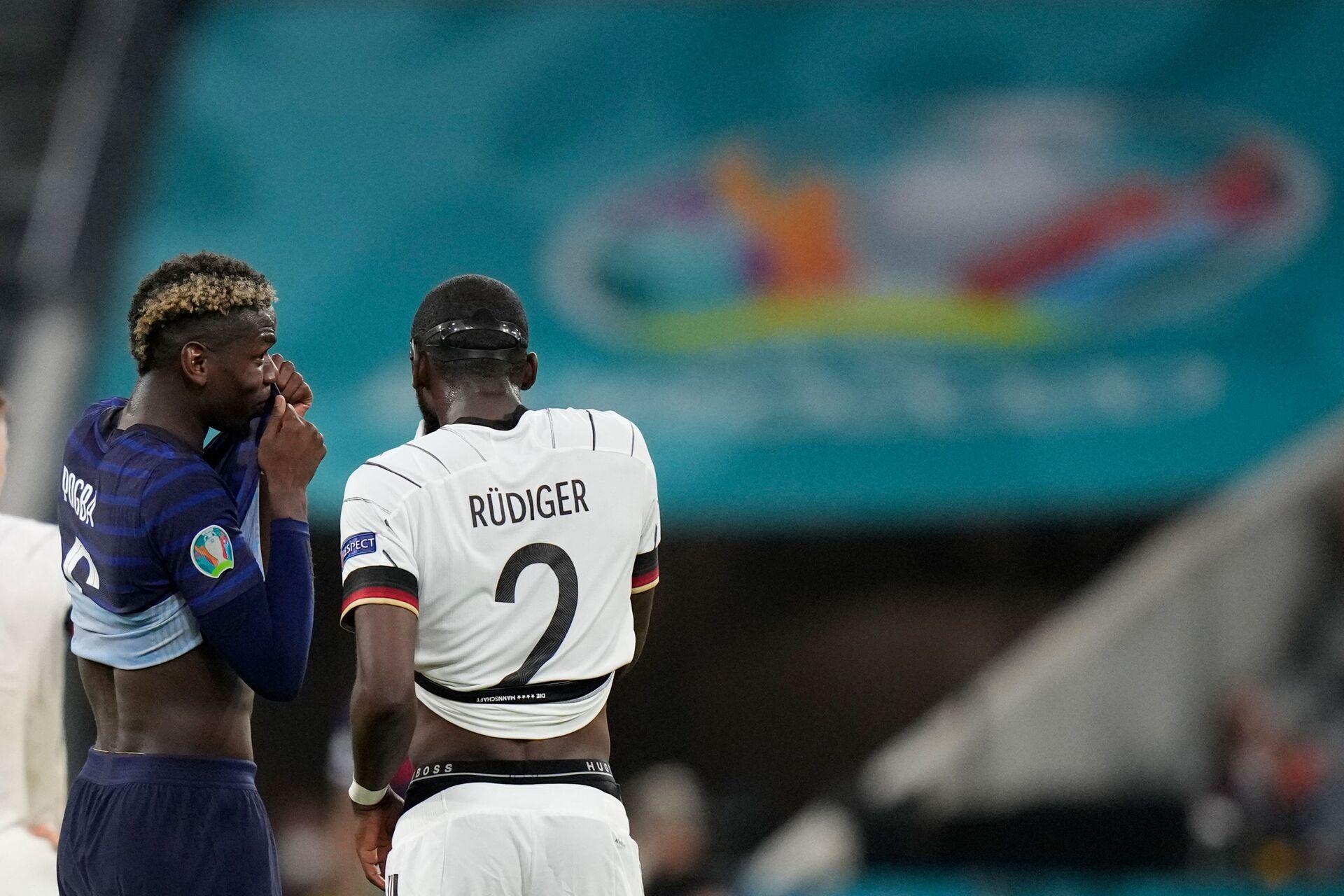 Rudiger lấy làm tiếc về sự cố của Pogba tại UEFA EURO 2020 - Sputnik Việt Nam, 1920, 17.06.2021