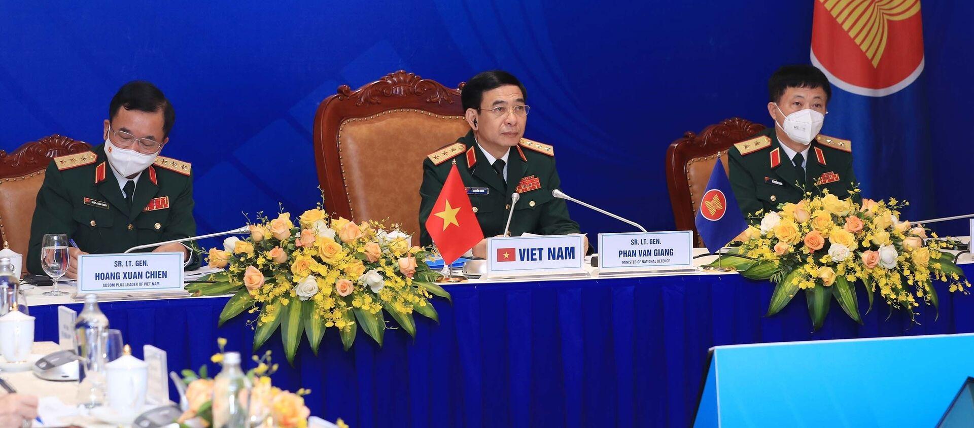 Thượng tướng Phan Văn Giang dự Hội nghị Bộ trưởng Quốc phòng các nước ASEAN mở rộng (ADMM +) lần thứ 8 - Sputnik Việt Nam, 1920, 16.06.2021