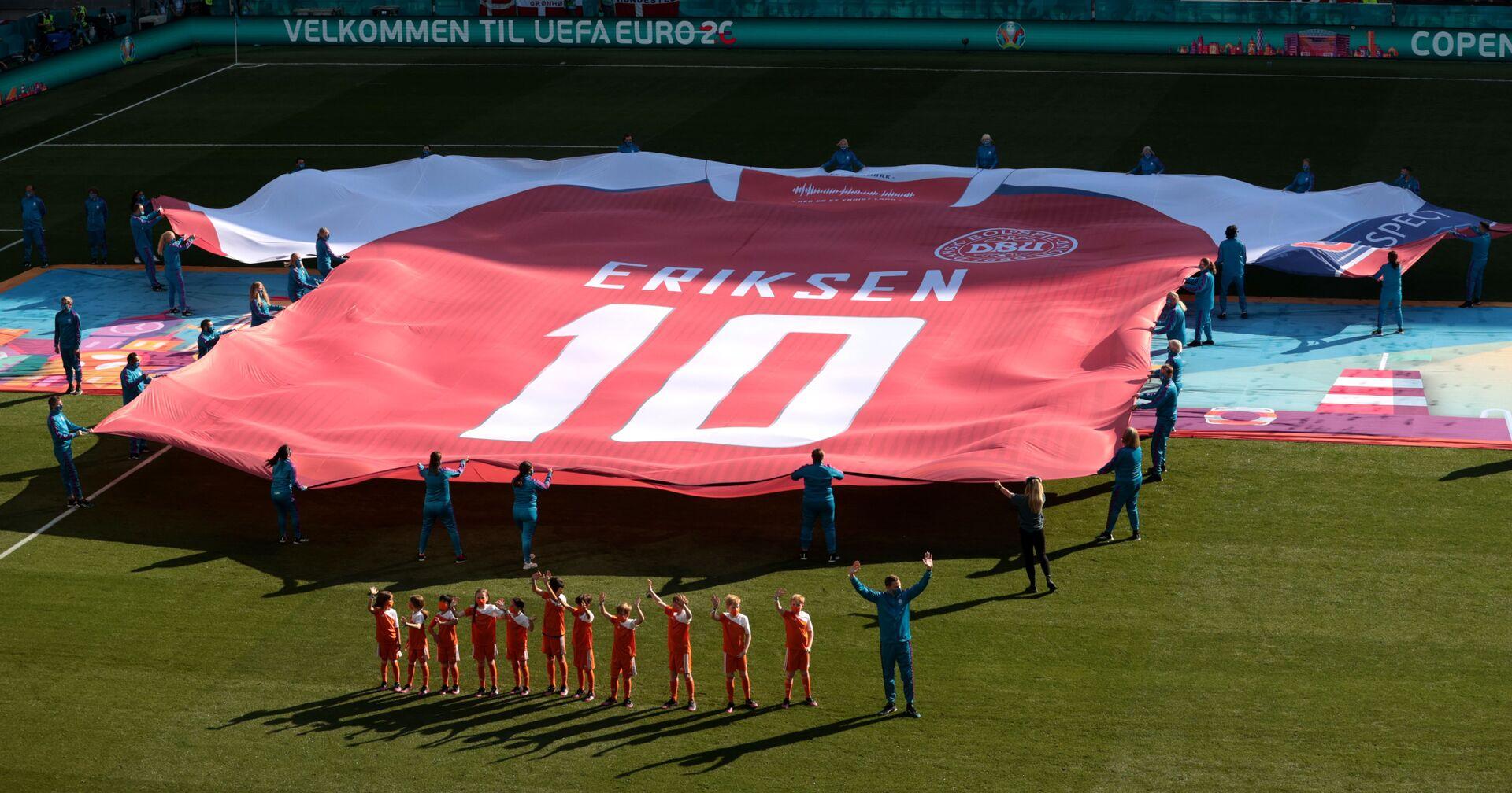 ЕURО 2020: Đội tuyển Đan Mạch thua đội tuyển Bỉ với tỷ số 1:2 - Sputnik Việt Nam, 1920, 18.06.2021
