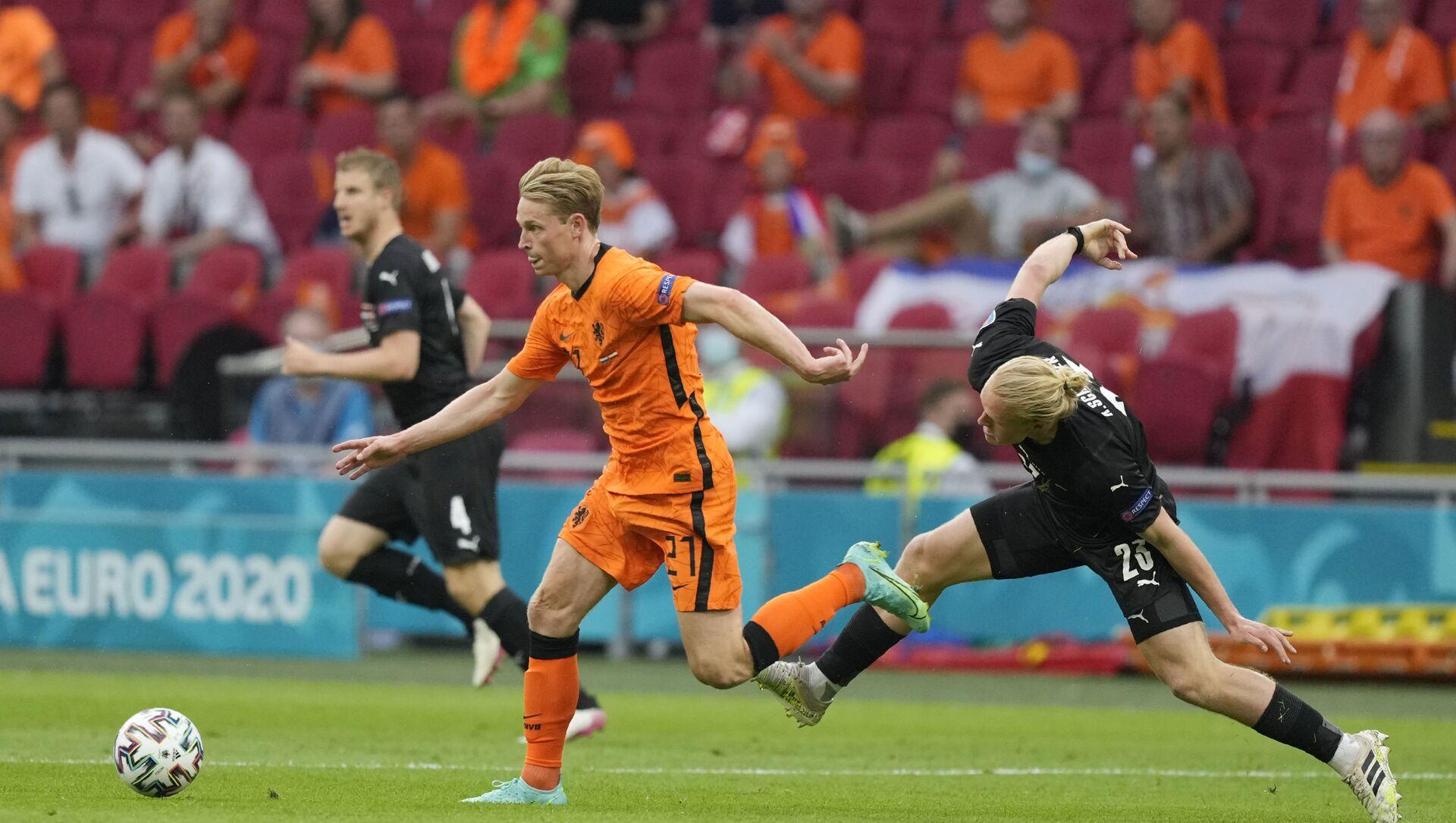 Trận đấu vòng bảng giữa đội tuyển Hà Lan và đội tuyển Áo tại EURO 2020 - Sputnik Việt Nam, 1920, 18.06.2021
