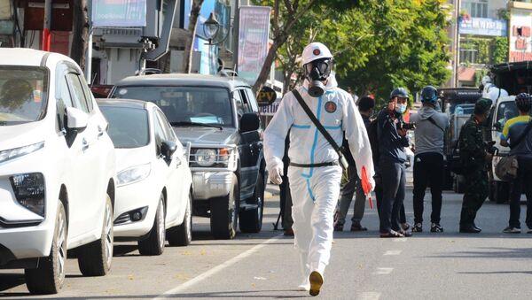 Đà Nẵng phun khử khuẩn tại các khu vực nóng có ca dương tính - Sputnik Việt Nam