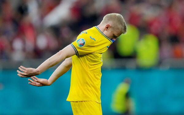 Trận đấu vòng bảng của Giải Vô địch Bóng đá châu Âu EURO 2020 giữa đội tuyển Ukraina và đội tuyển Áo  - Sputnik Việt Nam