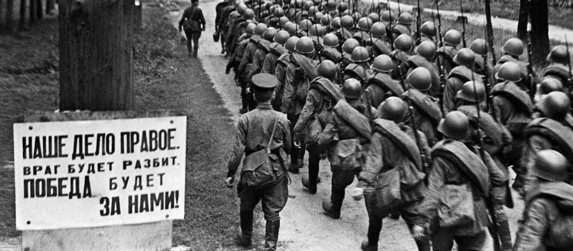Các đơn vị di chuyển ra mặt trận từ Moskva, ngày 23/6/1941. - Sputnik Việt Nam, 1920, 22.06.2021