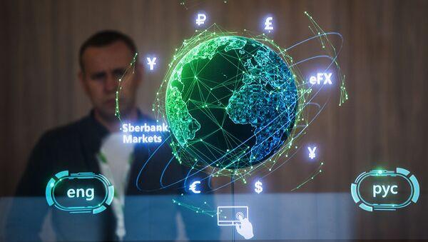 Gian hàng Sberbank tại Trung tâm Triển lãm và Hội nghị Expoforum - Sputnik Việt Nam