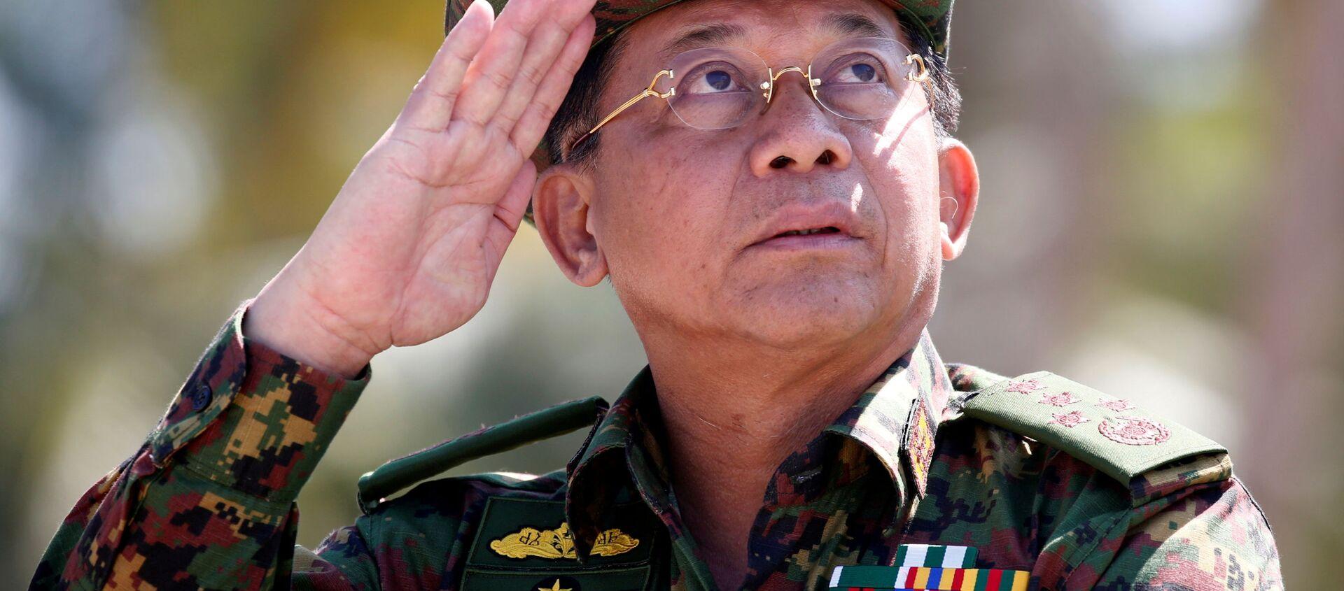 Người đứng đầu chính phủ quân sự Myanmar Min Aung Hlaing. - Sputnik Việt Nam, 1920, 22.06.2021