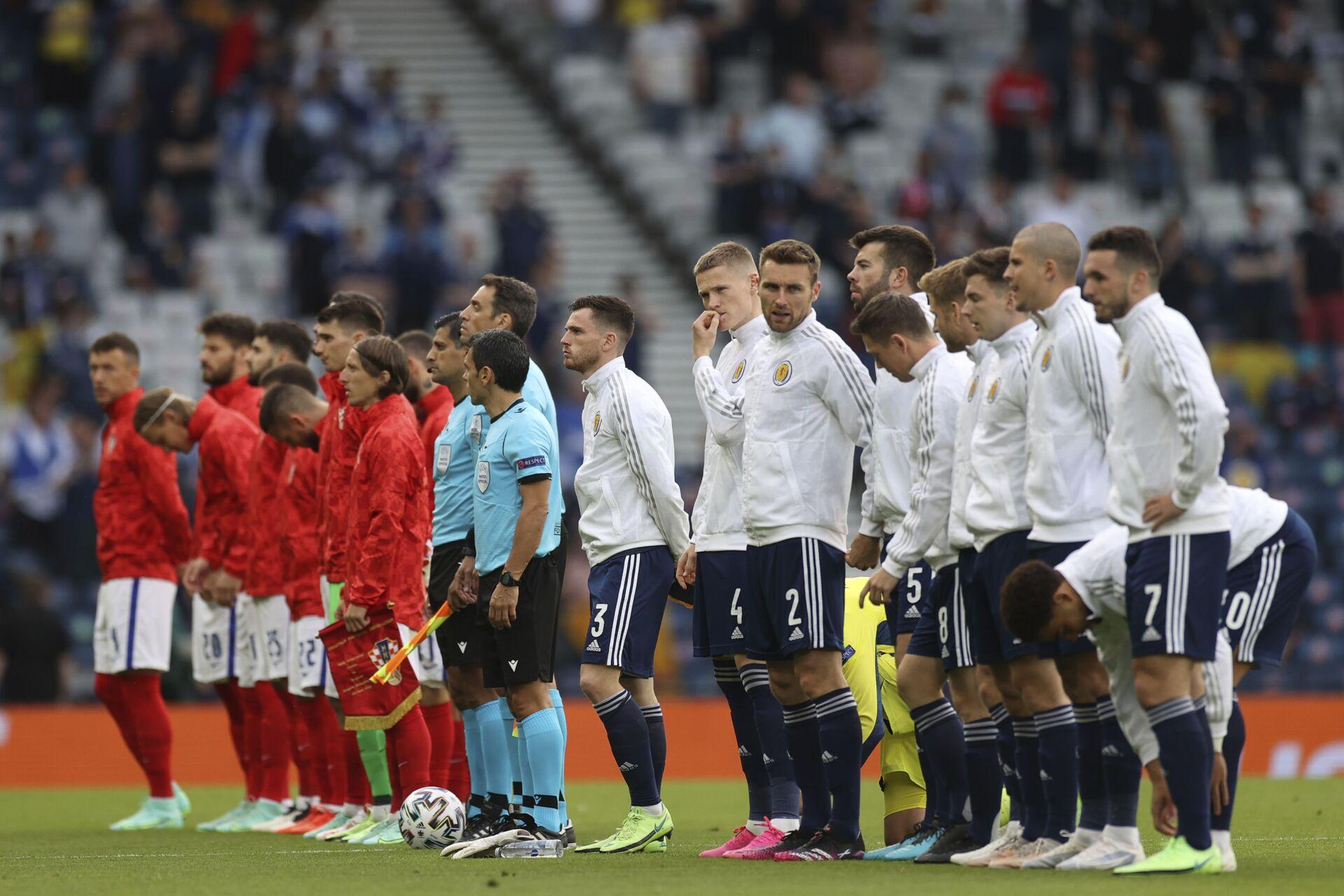 Giải Vô địch Bóng đá châu Âu: Đội tuyển Croatia thắng đội tuyển Scotland với tỷ số 3:1 - Sputnik Việt Nam, 1920, 23.06.2021