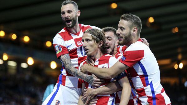 Trận đấu vòng bảng của Giải Vô địch Bóng đá châu Âu EURO 2020 giữa đội tuyển Croatia và đội tuyển Scotland - Sputnik Việt Nam