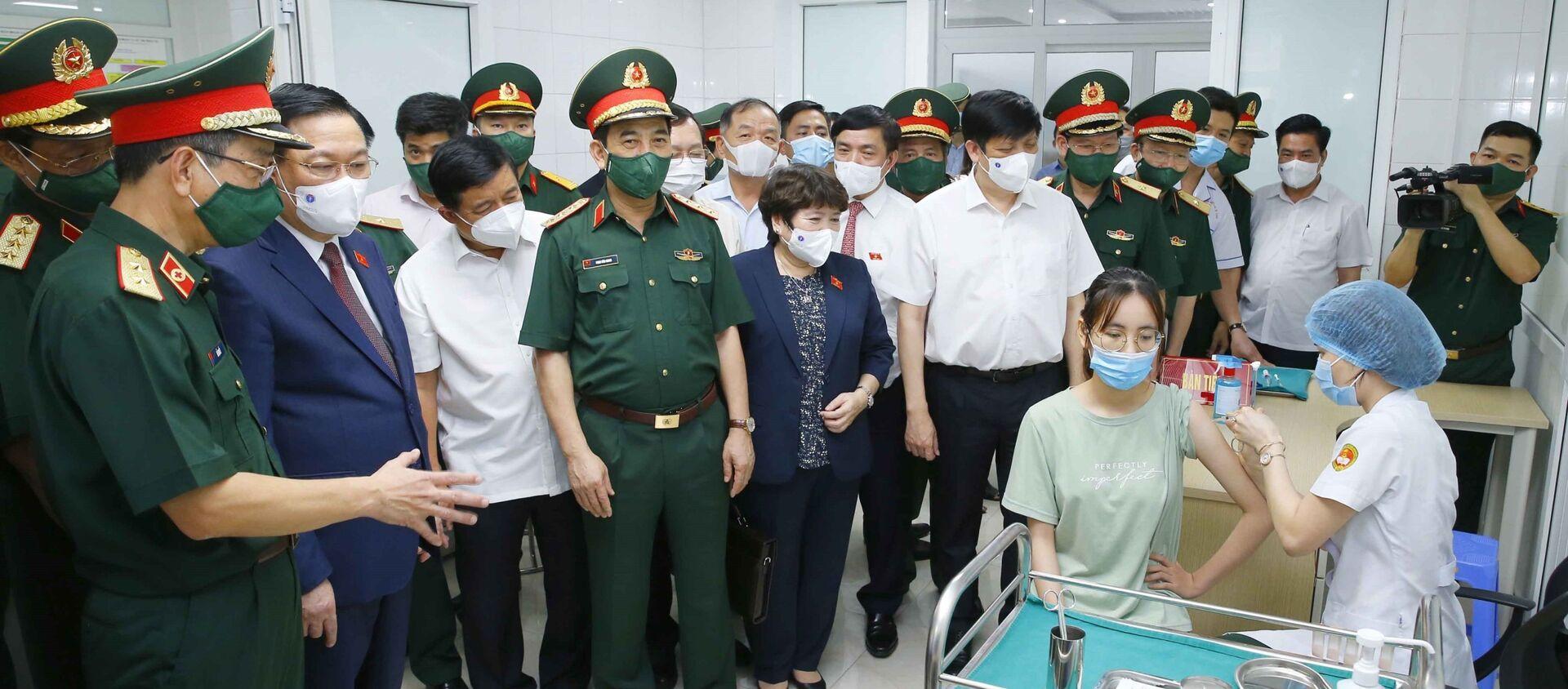 Chủ tịch Quốc hội Vương Đình Huệ thăm, làm việc tại Học viện Quân y - Sputnik Việt Nam, 1920, 23.06.2021