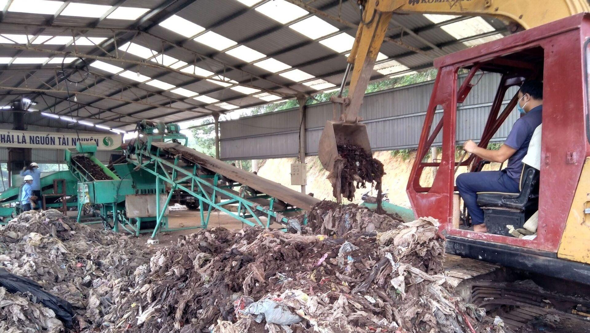 Mô hình xử lý rác thải bằng công nghệ vi sinh không gây ô nhiễm môi trường. - Sputnik Việt Nam, 1920, 23.06.2021