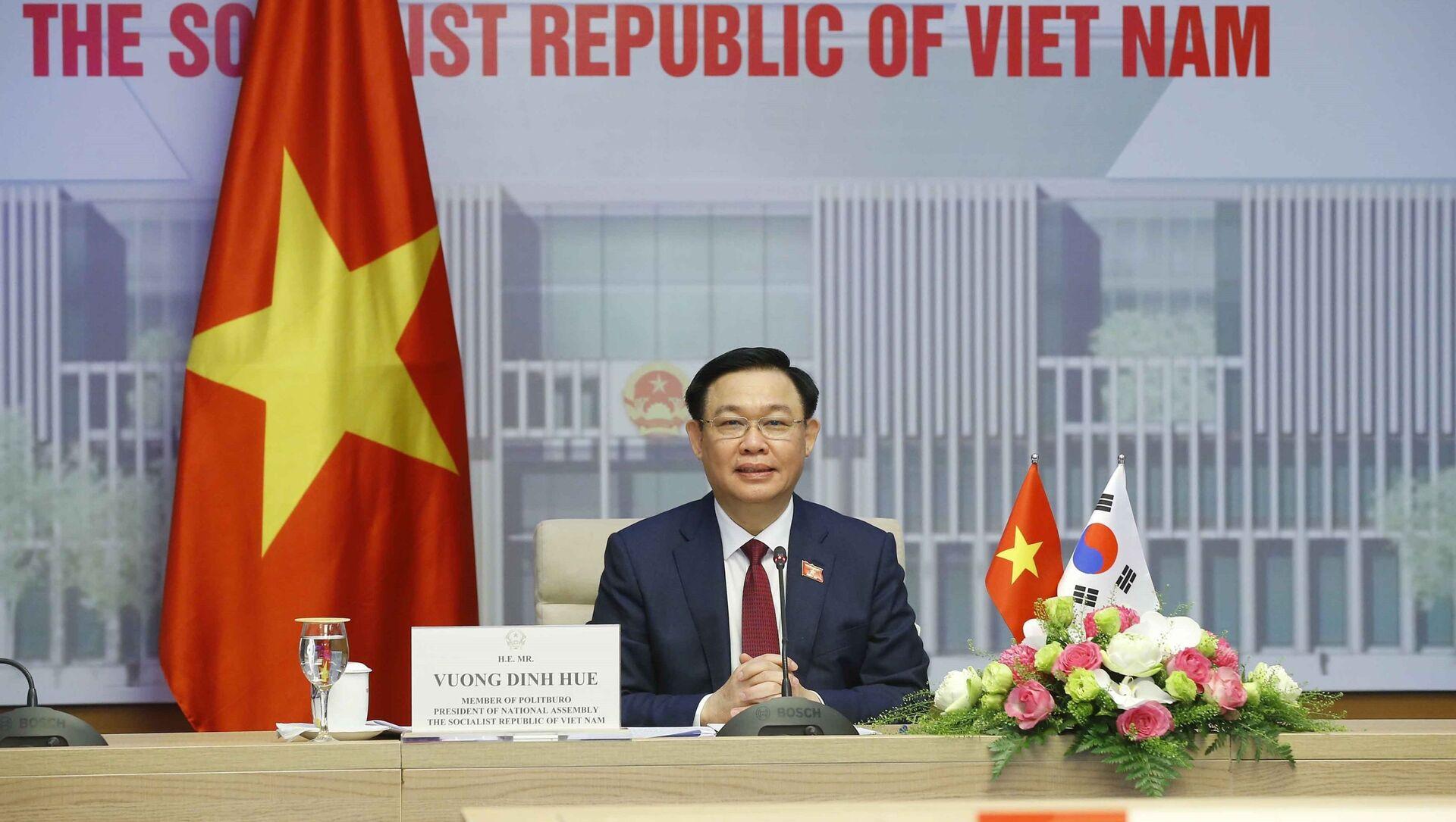 Chủ tịch Quốc hội Vương Đình Huệ phát biểu. - Sputnik Việt Nam, 1920, 23.06.2021