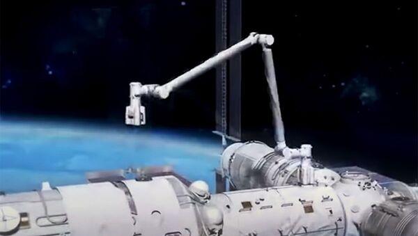 Cánh tay robot của trạm vũ trụ Trung Quốc. - Sputnik Việt Nam