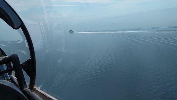 Tàu hộ vệ Khu trục hạm Hải quân Anh trong khu vực Cape Fiolent - Sputnik Việt Nam