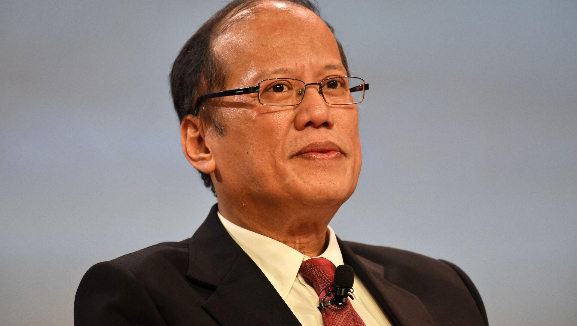 Cựu Tổng thống Philippines Benigno Aquino tham dự hội nghị ở Singapore, 2016 - Sputnik Việt Nam, 1920, 24.06.2021