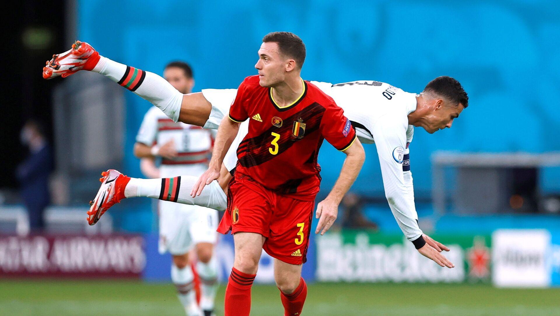Trận đấu giữa đội tuyển quốc gia Bỉ và Bồ Đào Nha tại Euro 2020 - Sputnik Việt Nam, 1920, 28.06.2021